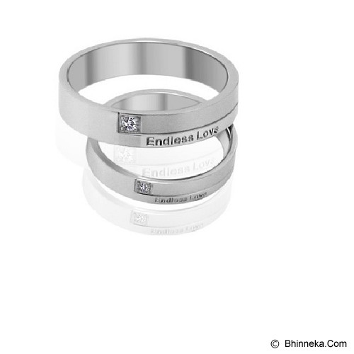 TITANIUM RING Cincin Couple Size 6(F) & 9(M) [GS289] - White - Cincin